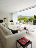 Sitting room of Villa Bamboo, Southern France