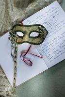 Carnival mask and journal (Chateau de la Verrerie, France)