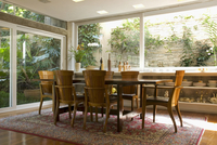Dining table and armchairs in traditional Mediterranean styl