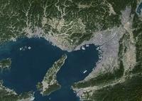 Osaka, Japan, True Colour Satellite Image