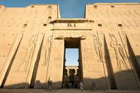 Temple of Edfu Dedicated To The Falcon-god Horus. Tell El-balamoun. Egypt