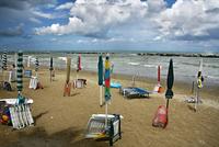 Italy. Marche. Cupra Marittima. Beach.