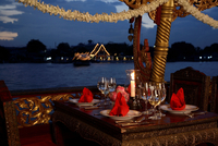 Dinner On A Boat Atoriental Hotel. Bangkok. Thailand