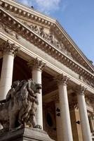 Belgium. Flanders. Brussels. Le Bourse. Stock Exchange. Facade