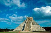 Mexico. Yucatan. Chichen Itza Ruins El Castillo