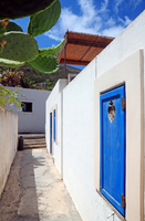 Italy. Sicily. Aeolian Islands. Stromboli Village