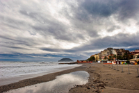 Italy. Liguria. Albenga. The Beach