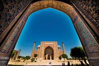 Uzbekistan. Samarkand. Registan. Shir Dor Madrasah