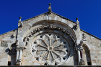 Italy. Apulia. Troia. The Cathedral. Detail Facade