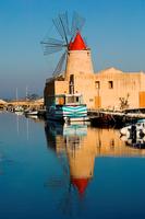 Italy. Sicily. Trapani. The Windmill