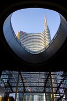 Italy. Lombardy. Milan. Porta Nuova Garibaldi Tower Designed By Cesar Pelli