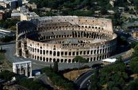 Lazio. Rome. Colosseum. Aerial