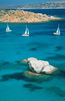 Sardinia. Maddalena Archipelago. Sailing in Caprera Sea