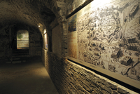 Exhibition inside the pentagonal Fort Napoleon at Ostend, Belgium. (Photo by: Arterra/UIG)