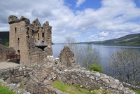 The ruins of Urquhart Castle beside Loch Ness near Drumnadrochit, Scotland, UK. (Photo by: Arterra/UIG)