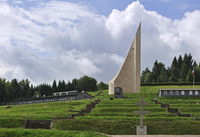 The Monument to the Departed at Natzweiler-Struthof, the only concentration camp established by the Nazis on French territory, A