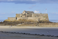 Fort National at low tide at Saint-Malo, Brittany, France. (Photo by: Arterra/UIG)