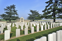 First World War cemetery of Chinese labourers at Noyelles-sur-Mer, Bay of the Somme, Picardy, France. (Photo by: Arterra/UIG)