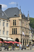 Market square and Denzelt, medieval palace of justice at Echternach, Luxembourg. (Photo by: Arterra/UIG)