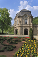 The rococo pavilion and municipal park at Echternach, Luxembourg. (Photo by: Arterra/UIG)