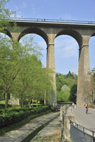 The Passerelle or viaduct spans over the Petrusse valley at Luxembourg, Luxembourg. (Photo by: Arterra/UIG)