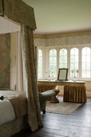 Four poster bed with rich fabrics  in Gloucestershire countr