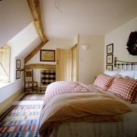 17th century Cotswold barn conversion dressed for Christmas