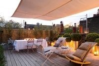 Roof terrace of central London apartment