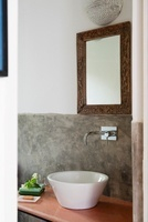 Modern bathroom interior in the Indian state of Goa