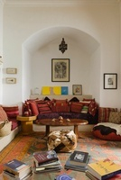 Moroccan style living area with recessed seating