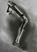 Silver Prosthetic Leg