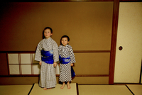 Two European Kids In Japanese Hotel