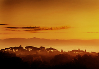 Sunset Over Romantic South European Landscape 20055007592| 写真素材・ストックフォト・画像・イラスト素材|アマナイメージズ