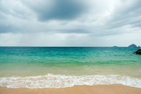 Sandy Beach With Turquoise Water.