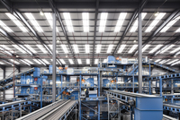 Interior Of Plastic Recycling Plant