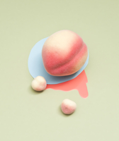 Pastel Objects On A Colored Background - Fake Peaches.