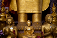 Buddha Statues At Vat Sensoukharam In The Unesco World Herit