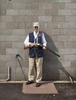 100 year old man at a shotgun shooting club