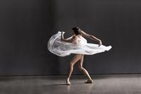 ballerina dancing with sheer skirt that she turnes around he 20055012734| 写真素材・ストックフォト・画像・イラスト素材|アマナイメージズ