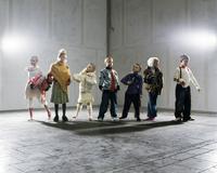Group portrait of fashionable children
