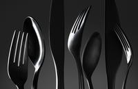 Row of cutlery.