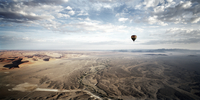 Namibia landscape from hot air balloon. Namibia.