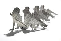 Cutout News Paper Paperdolls