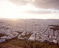 View From Lycabettus Hill Over The Greek Capitol Athens Righ 20055014873| 写真素材・ストックフォト・画像・イラスト素材|アマナイメージズ