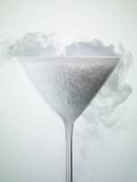 Frozen martini glass