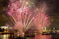 Thames Festival Firework Display Taken From Waterloo Bridge