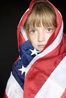 Girl in American Flag