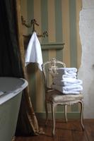 bathtub with soft towels