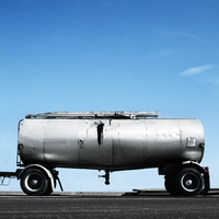 Tanker With Oil Spot