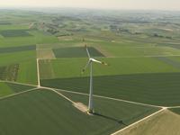 Single windmill on open plantation
